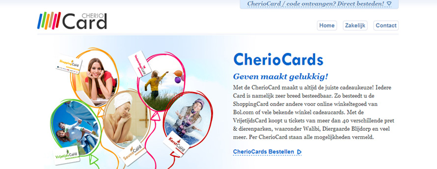 Cheriocards Magento webshop