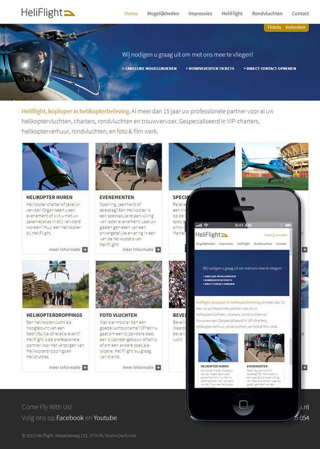 heliflight website wordpress